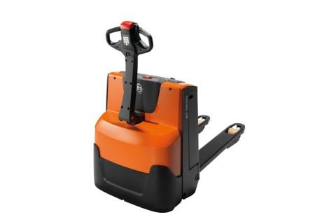 Ręcznie prowadzony elektryczny wózek paletowy do transportu poziomego i kompletacji zamówień