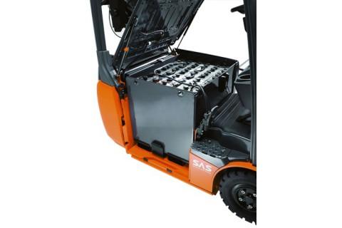 3-kołowe, elektryczne wózki z przeciwwagą do pracy w wąskich korytarzach