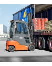 4-wheel electric counterbalanced forklift for intensive material handling operations